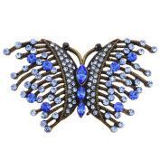 Sapphire Blue Butterfly Pin Brooch