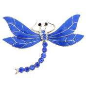 Sapphire Blue Dragonfly Pin Brooch