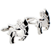 Sagittarius Astrology Sign Cufflinks Black and Silver Cuff links