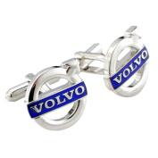 Volvo Logo Automotive Car Cufflinks Silver Cuff Links