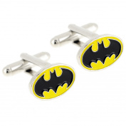 Officially Licensed Black and Yellow Batman Cufflinks