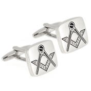 Masonic Silver Square Cufflinks