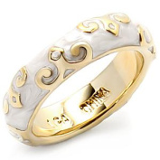 Gold Plated White Epoxy Ring