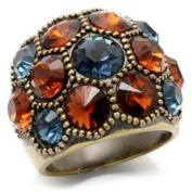 Vintage Style MultiColor Clear Ring