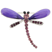 Purple Dragonfly Pin Brooch