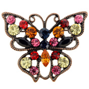 Vintage Style Multicolor Crystal Butterfly Pin Brooch