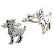 Aries Astrology Sign Cufflinks Black and Silver Cuff links