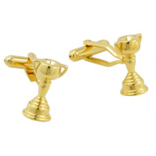 Trophy Cup Cuff links golden Cuff-Links