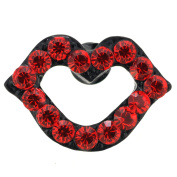 Red Lips . Crystal Lapel Pin