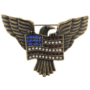 American Flag Eagle Patriotic Pin Brooch