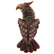 Purple Amethyst Eagle Pin Brooch