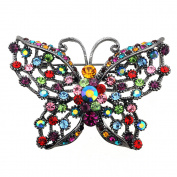 Multicolor Butterfly PIn . Crystal Pin Brooch and Pendant