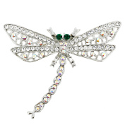 Crystal Dragonfly Pin Brooch And Pendant
