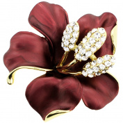 Red Hawaiian Hibiscus Flower Pin Brooch And Pendant