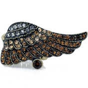 Angel Wing Crystal Vintage Style Stretch Ring