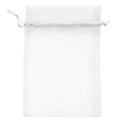 50pcs 15cm x 23cm Sheer White Organza Drawstring Pouches Gift Bags Jewellery Holder