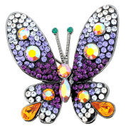Purple Butterfly Crystal Pin Brooches