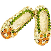 Multicolor Flat Crystal Shoes Brooch Pin