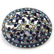 Vintage Style Blue Flower Brooch Pin