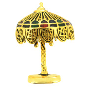 Vintage Style Golden Table Lamp Brooch Pin