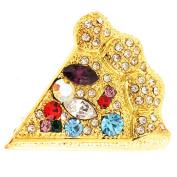 Multicolor Pizza Pin Fashion Brooch Pin