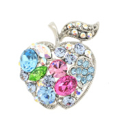 Multicolor Apple Crystal Fruit Pin Brooch