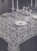Vintage Crochet PATTERN to make - Shadow Fillet Orchid Tablecloth. NOT a finished item. This is a pattern and/or instructions to make the item only.