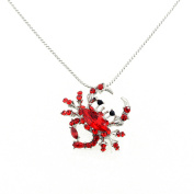 Red Crystal Crab Pendant