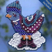 Mill Hill Winter Holiday Ornament Counted Cross Stitch Kit w/ Glass Beads & Treasure Winter Bird MH184303