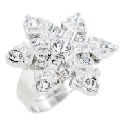 Silver Plated Snow Flake Adjustable Ring