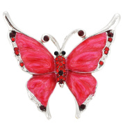 Red Butterfly Pin Brooch And Pendant