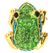 Green Frog Brooch Pin And Pendant