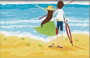 Greek Art Paintwork Paint Colour By Numbers Kit,Walking in the Shoreline,20cm -by-30cm