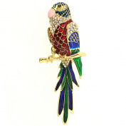 Multicolor Enamel Parrot Pin Brooch