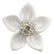 White Enamel Pin Brooch