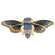 Blue Bee Golden Brooch Pin