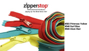 Zipperstop Wholesale YKK® 70cm 3pcs Assorted Hottest Colours YKK® #4.5 Handbag Zippers - Extra-long Pull Closed Bottom Made in USA Colour #503 Primrose Yellow, #548 Surf Blue, #820 Atom Red