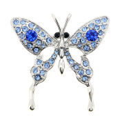 Blue Butterfly Sapphire Crystal Pin Brooch