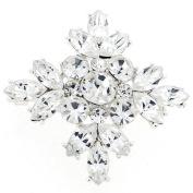 . Crystal Flower Wedding Pin Brooch