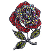 Classic Siam Red Rose Pin Brooch