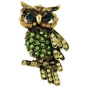 Vintage style Multicolor Owl Bird Pin Brooch