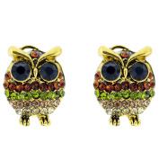 Multicolor Owl Pierced Earring