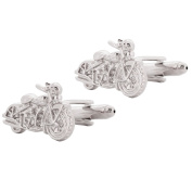 Motorcycle Cufflinks Silver Cuff-links