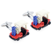 Red And White Golf Cart Cufflinks