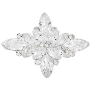 Crystal Flower Wedding Pin And Pendant