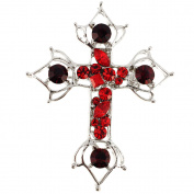 Red Cross Crystal Brooch and Pendant