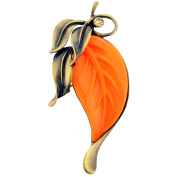 Vintage Style Fall Leaf Brooch And Pendant