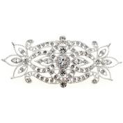 Crystal Flower Wedding Pin