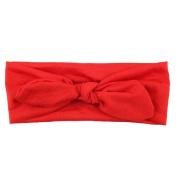 FEITONG(TM) Lovely Baby Kids Girls Rabbit Bow Ear Hairband Headband Turban Knot Head Wraps