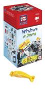BRICTEK Windows & Doors 86pc Kit with 2 Figurines & Brick Remover.